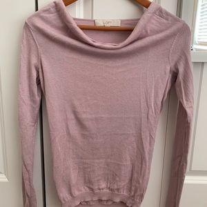 Loft cowl neck long sleeve sweater